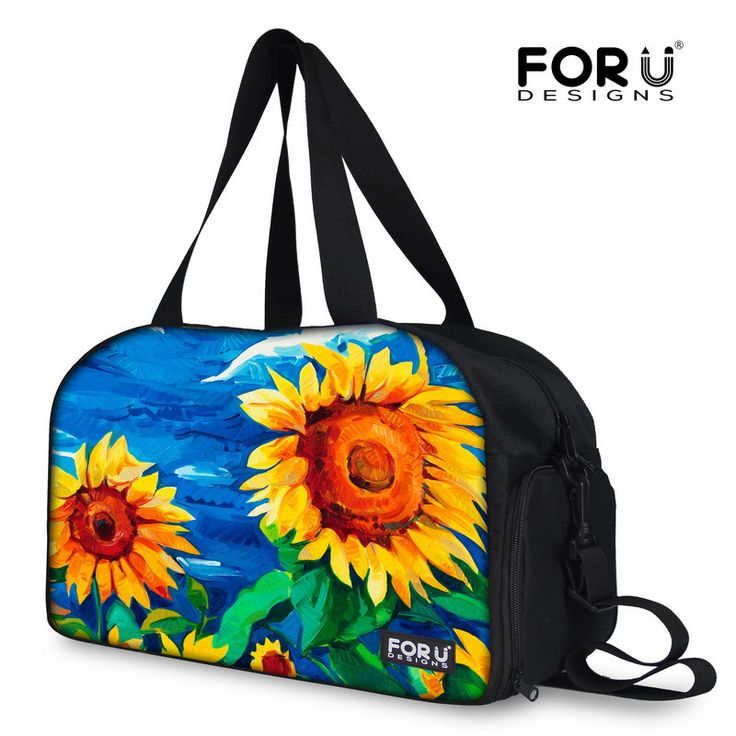 Classic Painting Printing Women Travel Handbags Flower Pattern Canvas Weekender Bag for Trips Large Capacity Brand Travel Bags