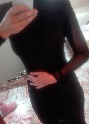 czarna długa sukienka