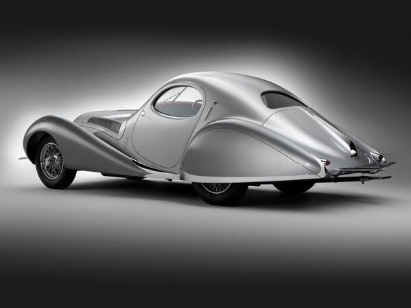 Talbot-Lago T23 Teardrop Coupé, 1938.
