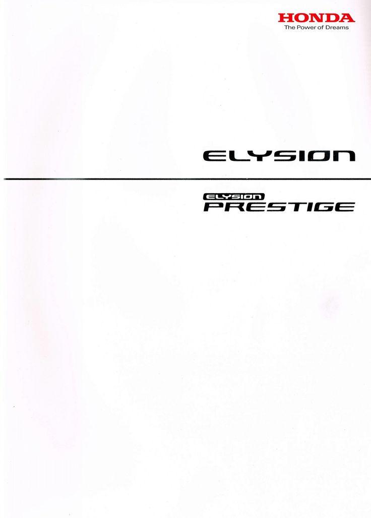 Honda Elysion Japan Brochure 2011