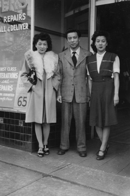 Photograph from Vancouver BC's Chinatown, 1940s.