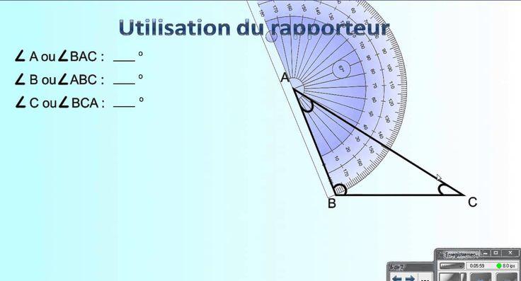 L'utilisation du rapporteur d'angle - YouTube
