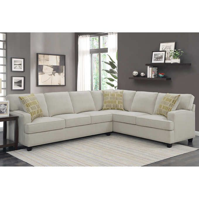 Miami Fabric Sectional | New House Living Room in 2019 ...