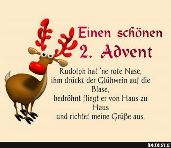 Einen schönen 2. Advent.. | Advent lustig, Weihnachten ...