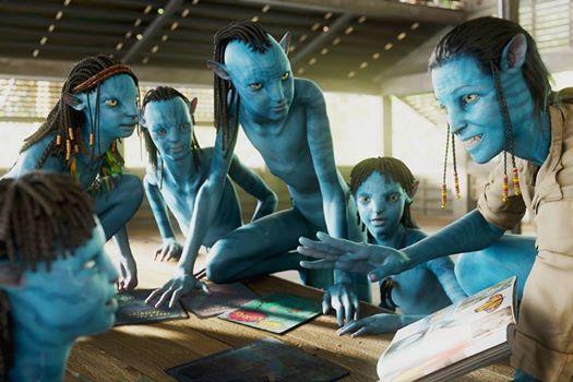 Na'vi children learning English... #JamesCameron # ...
