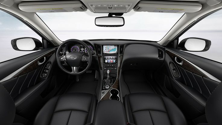 INFINITI-2014 Q50 Hybrid-Interior Color-Graphite leather ...