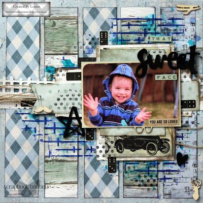 """Kaisercraft Barbershoppe  """"That Sweet Face"""" layout + process video by Louise"""