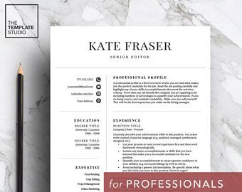 A simple, but classic template perfect for anyone looking to refresh their resume!