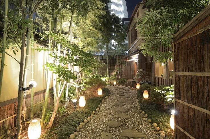 Iluminação para o jardim.