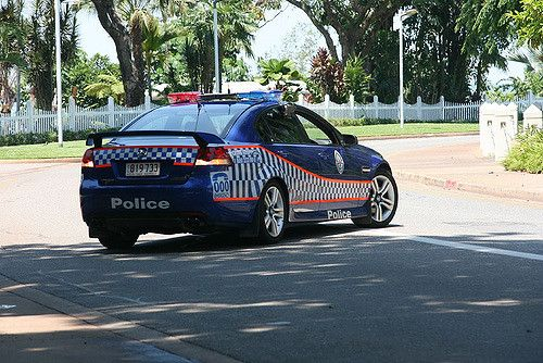 https://flic.kr/p/3Y7hN1 | police car | police on duty guarding Governor in Northern Territory