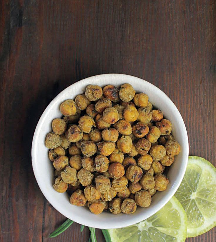 Crispy Herb Roasted Chickpeas - Easy & Healthy Snack #Recipe #GlutenFree #Vegan