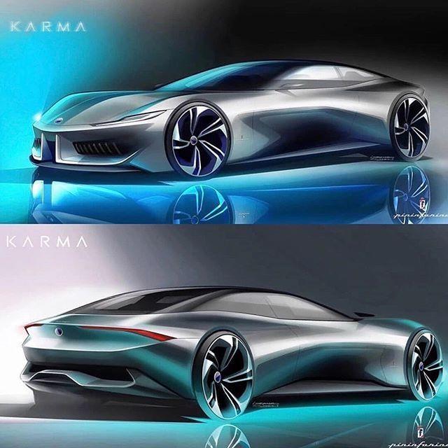 Karma Pininfarina GT die erste Frucht der Zusammenarbeit zwischen den kaliforni …   – vehicle sketching/rendering