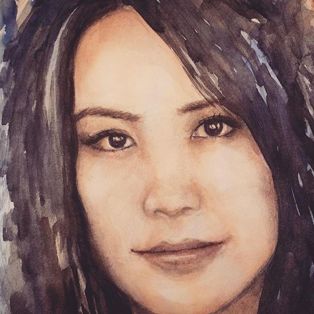 #portrait #watercolor #portraiture