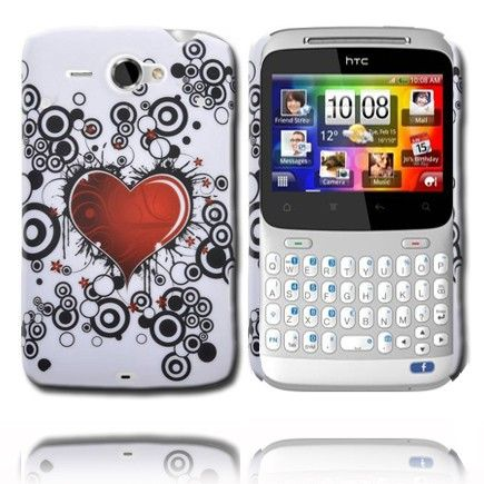 Valentine (Red Heart - Black Circles) HTC ChaCha Cover