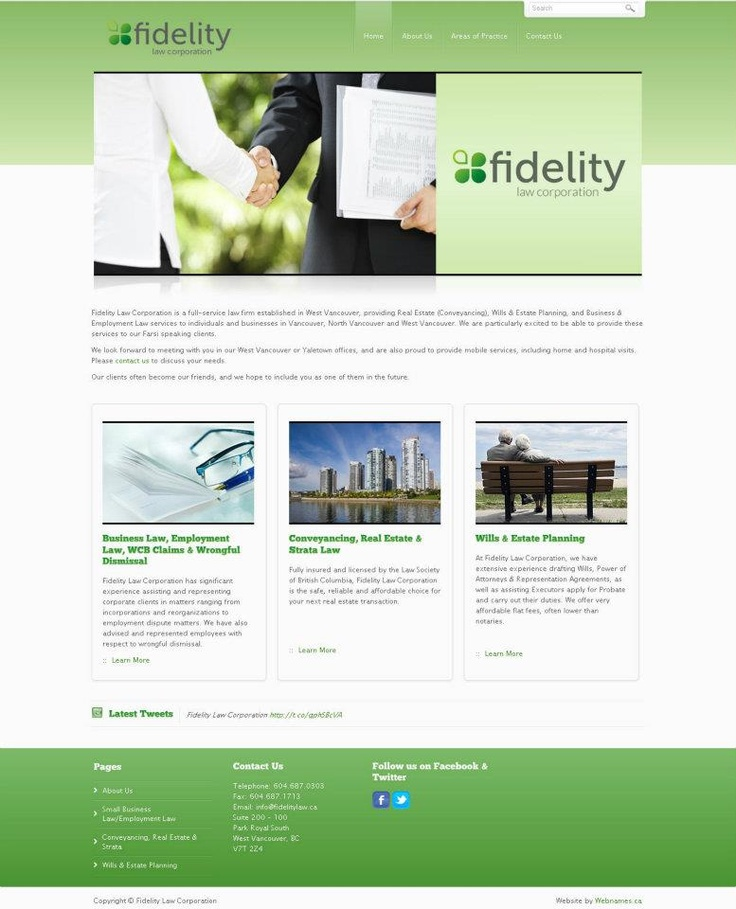 See the full website at www.fidelitylaw.ca