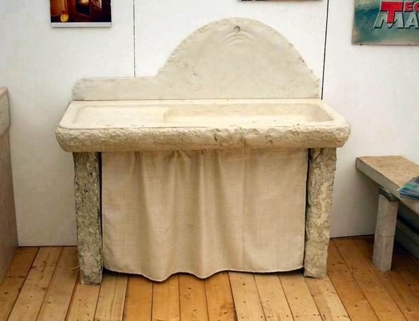 17 migliori idee su lavello in cemento su pinterest - Lavandino cucina in pietra ...