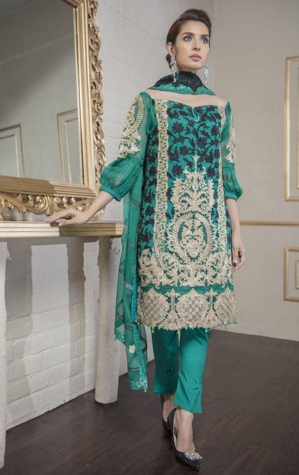 4b662b085c Juvi Fashion Eshaal Vol-1 NX Faux Georgette Suits (4 pc catalog ...