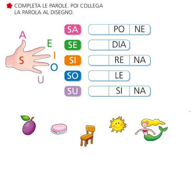 """Giochi e colori ! Schede didattiche del Maestro Fabio: SCHEDE DIDATTICHE SULLA LETTERA """"S"""" (CLASSE PRIMA SCUOLA PRIMARIA)"""