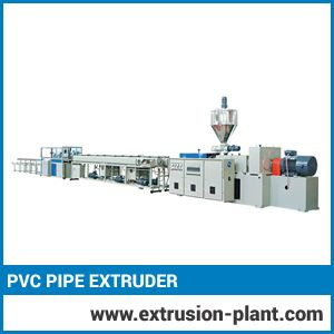 Pvc Pipe Extruder  Our PVC pipe extruder is the versatile model in which you found great functionality with everything you expect. It is a cost effective model that offer high productivity due to its innovative designs and advanced control system. Modern geometry of screw leads minimum rejection rate.