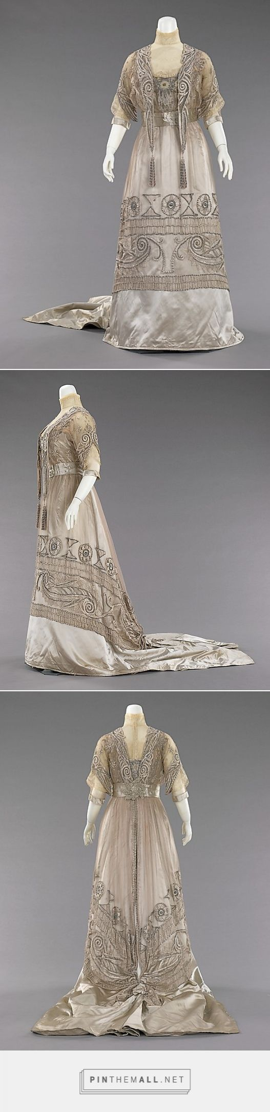 Evening dress attributed to Mrs. Dunstan 1908-10 American | The Metropolitan Museum of Art - created via http://pinthemall.net