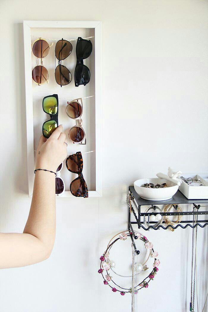 sunglasses organizer apartment therapy pinterest deko selber machen brille und praktisch. Black Bedroom Furniture Sets. Home Design Ideas