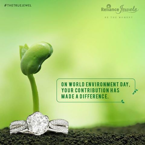 On world environment day, your contribution has made a difference. Join us in conserving the environment. Simply inbox us your contact details (Name | Number | Email | Address) on Facebook, and we shall send you a seed card to plant and express your contribution. Reliance Jewels Be The Moment #Reliance #RelianceJewels #Jewels #Environment #EnvironmentDay2016 #Nature #Act