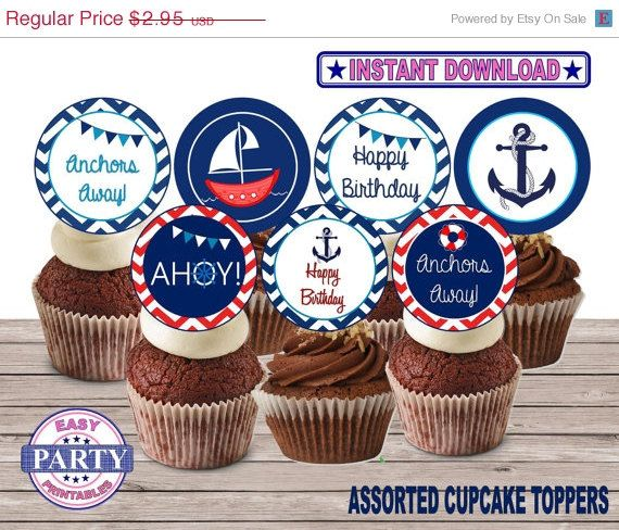 Hey, I found this really awesome Etsy listing at https://www.etsy.com/listing/190542157/50-off-sale-ahoy-cupcake-toppers-instant