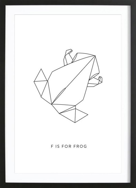 F als Framed Poster door Julia Marquardt | JUNIQE