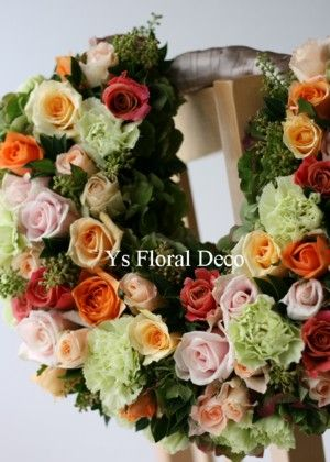 リースバッグブーケ 花冠と共に @アプローズスクエア ys floral deco