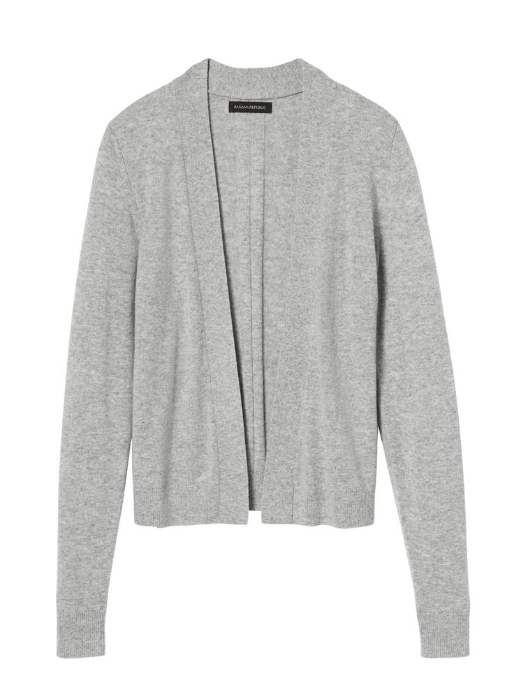 Feather Touch Open Cardigan | Banana Republic