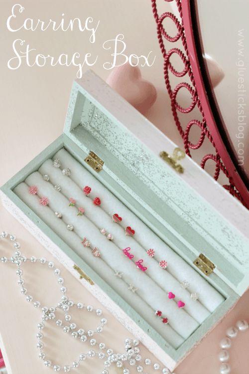 DIY Earring Storage Box