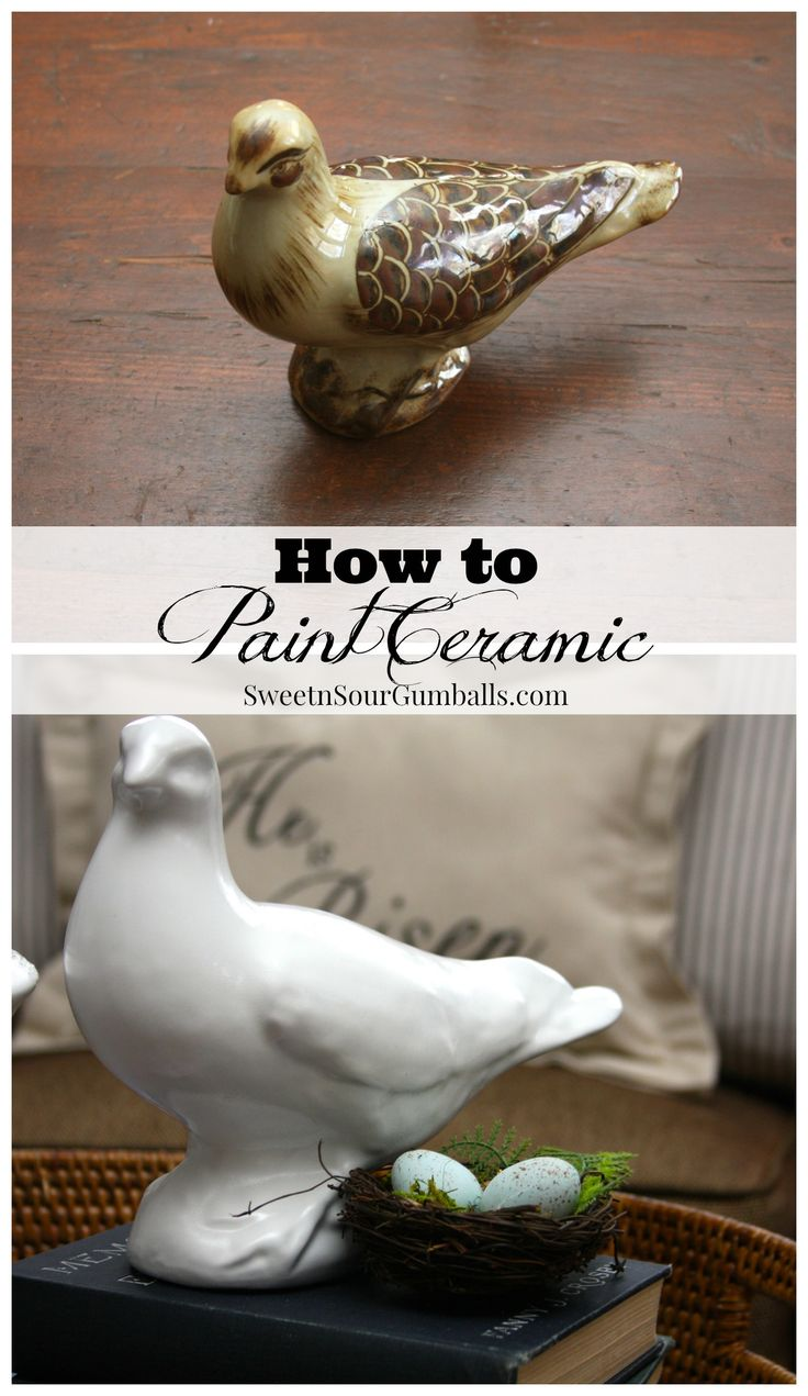 How to paint ceramic easter decor do it yourself today for Ceramic mural tutorials