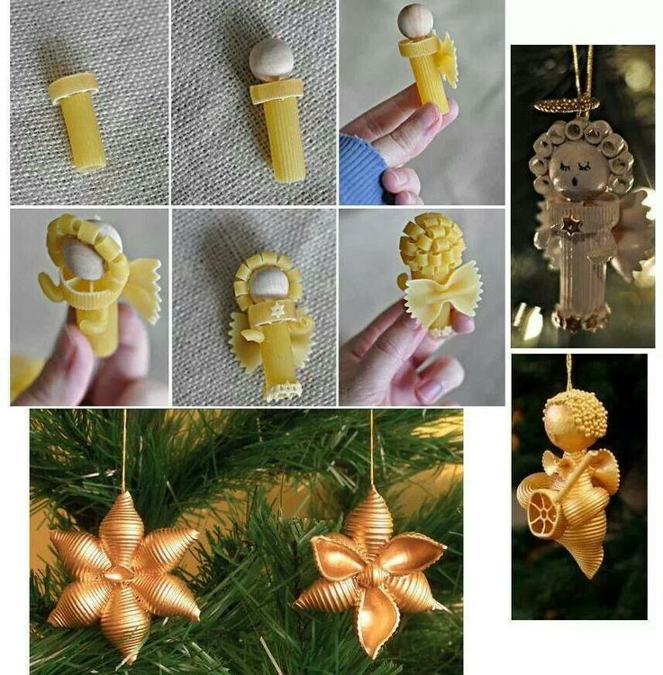 Pasta Christmas ornaments