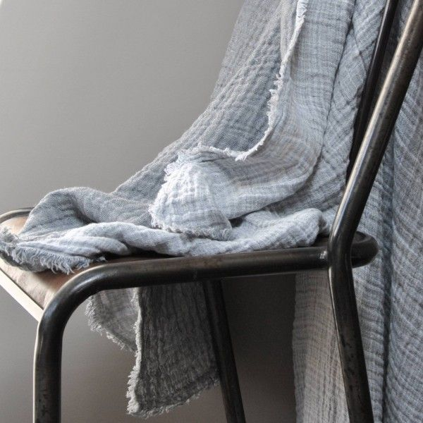 plaid 100 lin gauffr le rep re des belettes linen. Black Bedroom Furniture Sets. Home Design Ideas
