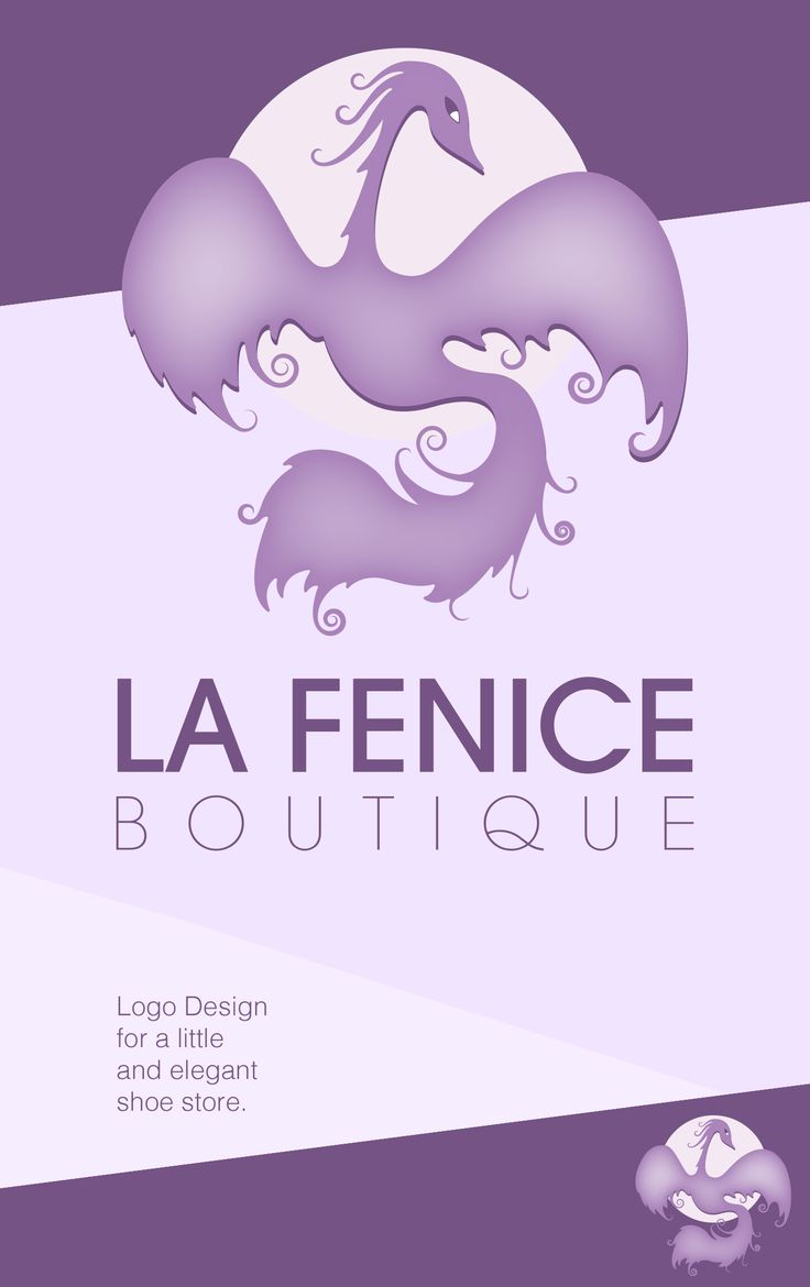 Logo Design for a Shoe Boutique #phoenix #logo #boutique #fenice #stencil #lilla #violet
