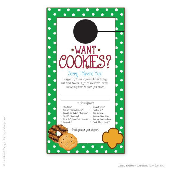 Personalized Girl Scout Cookie Sales Door by KariSmythDesign