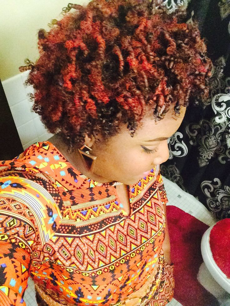 Red Coils Using Spray On Color Shared By Aubrey Rose - http://www.blackhairinformation.com/community/hairstyle-gallery/natural-hairstyles/red-coils-using-spray-color-shared-aubrey-rose/ #naturalhairstyles