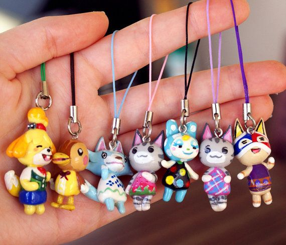 CHOOSE your FAVORITE/DREAMIE Animal Crossing villager as a 3ds or phone strap charm OMG LOLLY AND MOLLY!