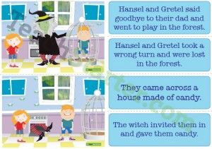 Hansel and Gretel Sequencing Activity Cards
