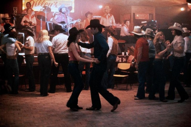 Urban Cowboy - Sissy and Bud---- I want to learn to two step like them!