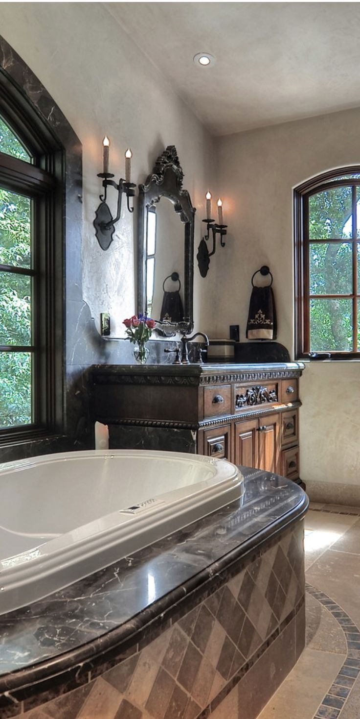 Home decorating ideas bathroom - Tuscan Style A Great Home Decorating Idea