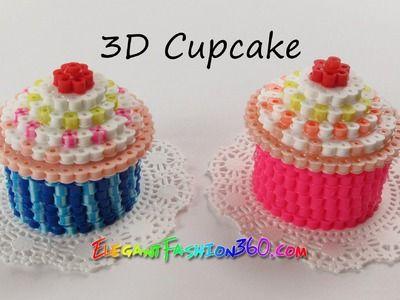 DIY Perler.Hama Beads Cupcake 3D - How to Tutorial by Elegant Fashion 360