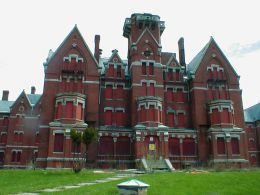 """Danvers State Mental Hospital, Danvers, MA - was constructed in 1878 and donned the title """"witch's castle on the hill"""". It's speculated that John Proctor and 4 other accused witches were hung on Gallows Hill in 1692, the property on which Danvers was built. It quickly grew over populated and shut its doors in 1992. It has been dubbed one of the scariest places on Earth. Activity includes flickering lights, full-body apparitions, disembodied footfalls and doors that open and close on their…"""