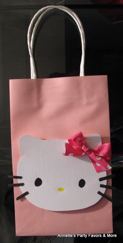 O Kitty Party Favor Bag Set I Am Going To Try And Make These If Can T Find The Bags Already Other Cuteness Or For Little Ones