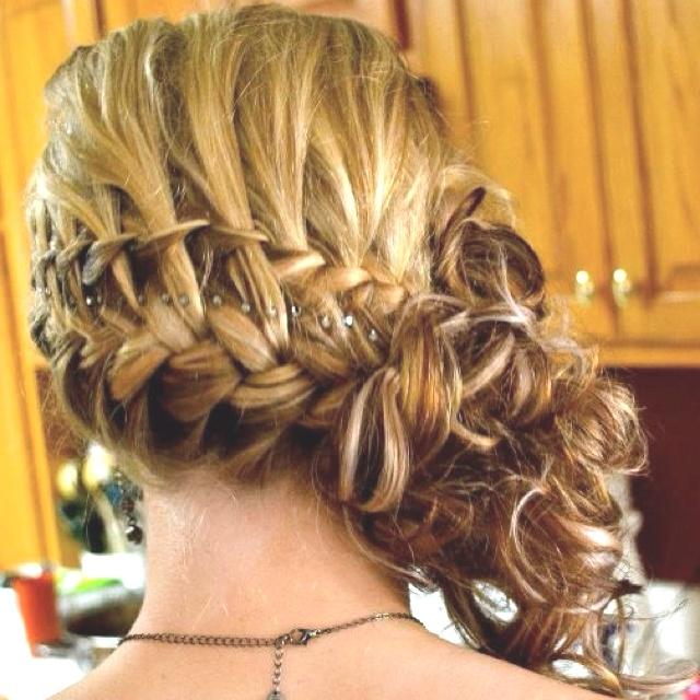 Prom hair side swept braid
