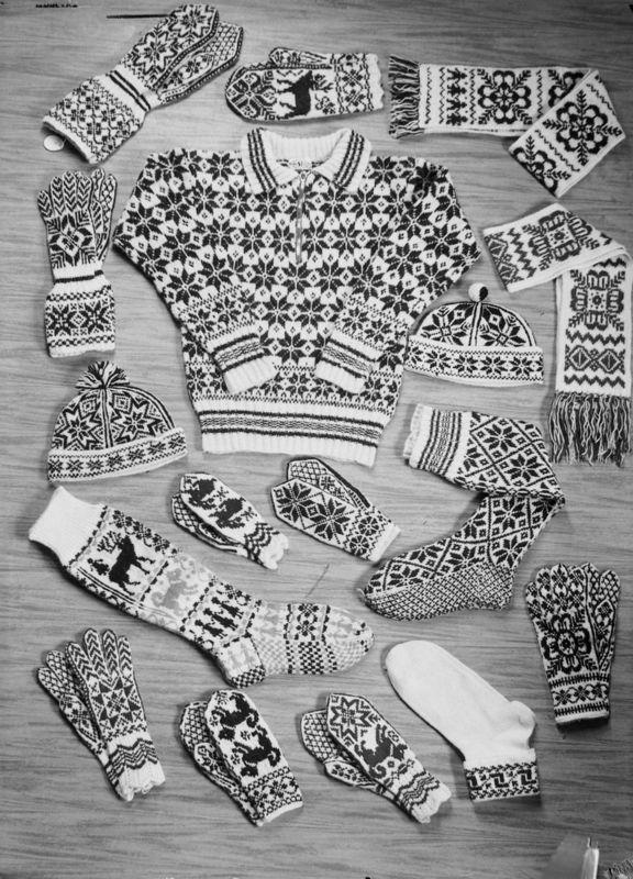 Vintage Selbu knitting ad Sverresborg Trøndelag Folkemuseum