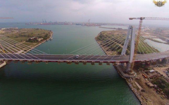 FOTO VIDEO Cum arată noul pod hobanat ce traversează Canalul Dunăre - Marea Neagră