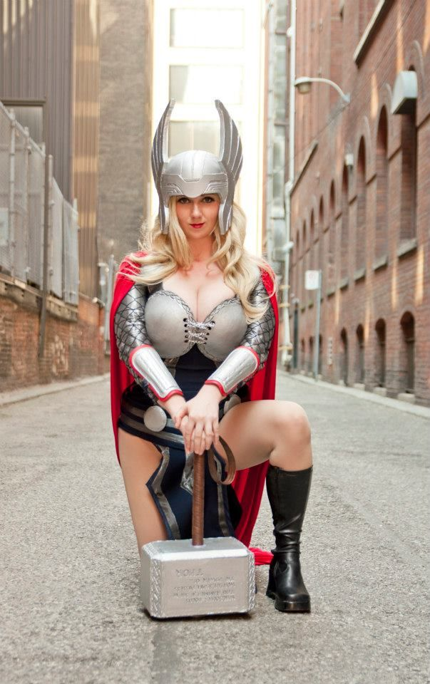 Lady Thor: Halloween Costumes, Comic Con, Cosplay Girls, Cosplay Costumes, Ladies Thor, Comic Book, Fans Art, Female Thor, Thor Cosplay