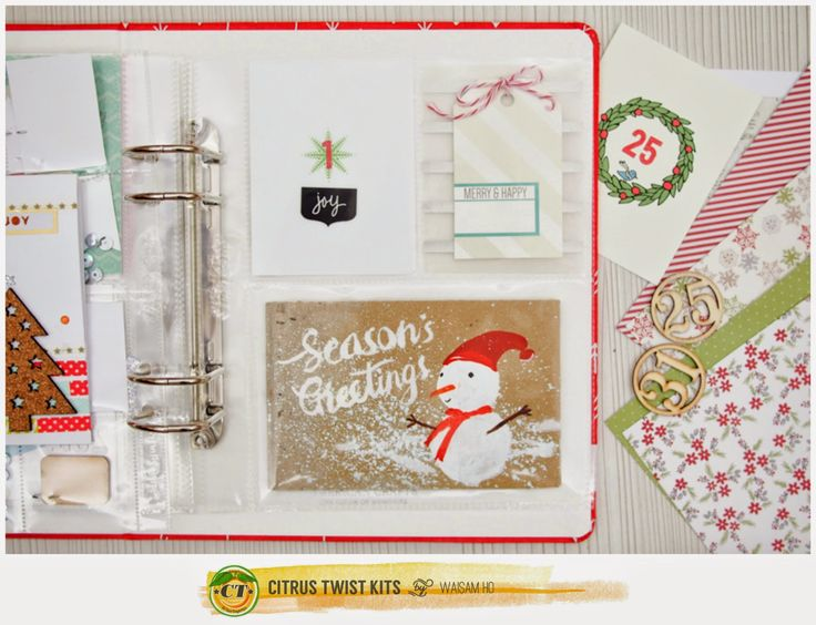 Project Life | December Daily 2014  *Citrus Twist Kits*