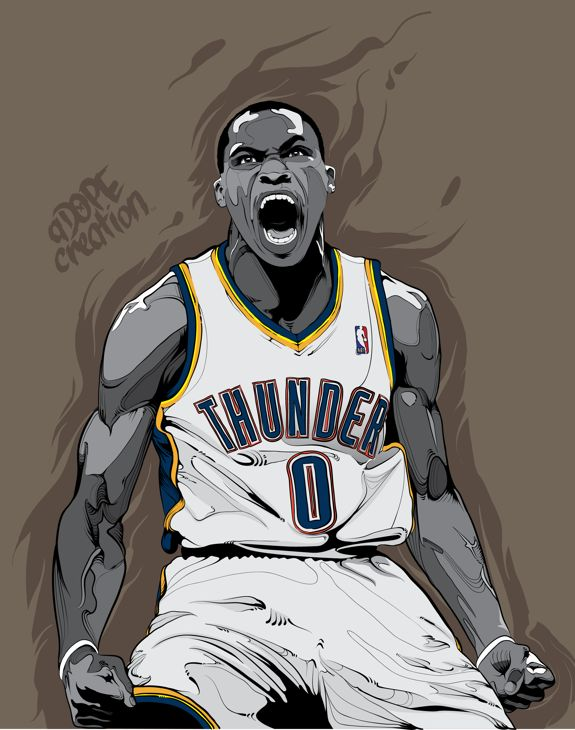 Russell Westbrook 'Intensity' Illustration Art